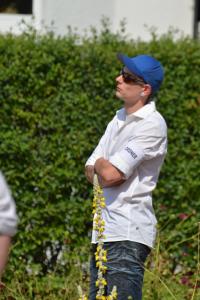 Fabian Zufall als Ordner am 1.08.2015 in Bad Nenndorf